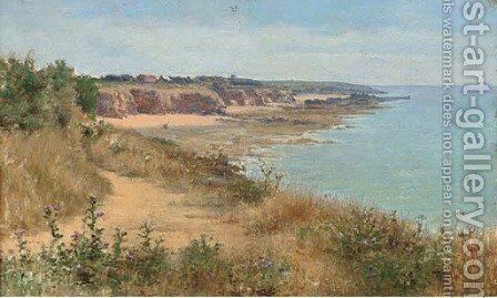 Pointe de Trevignon by Auguste Raynaud - Reproduction Oil Painting