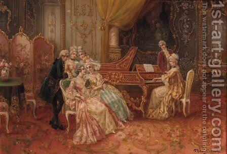 A musical evening by Stephan Sedlacek - Reproduction Oil Painting