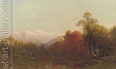 Autumn in the White Mountains Near Jefferson Village by Aaron Draper Shattuck - Reproduction Oil Painting