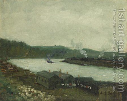 At the Riverhead by Aaron Harry Gorson - Reproduction Oil Painting