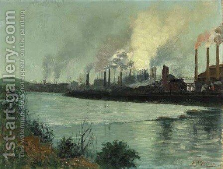 Bethlehem Steel by Aaron Harry Gorson - Reproduction Oil Painting
