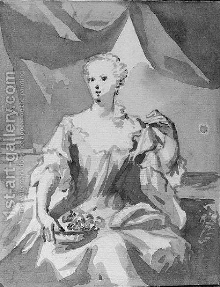 Portrait of Maria Arnoudina Gevaerts (1728-1793) by Aert Schouman - Reproduction Oil Painting
