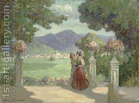 Blue Mountain Country by Abbott Fuller Graves - Reproduction Oil Painting