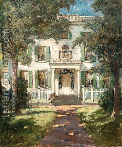 Federal House, Wiscasset, Maine by Abbott Fuller Graves - Reproduction Oil Painting