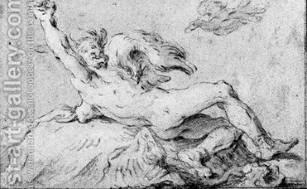 Two studies of Prometheus by Abraham Bloemaert - Reproduction Oil Painting