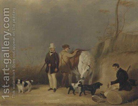 A good day's bag by Abraham and Webster, Thomas Cooper - Reproduction Oil Painting