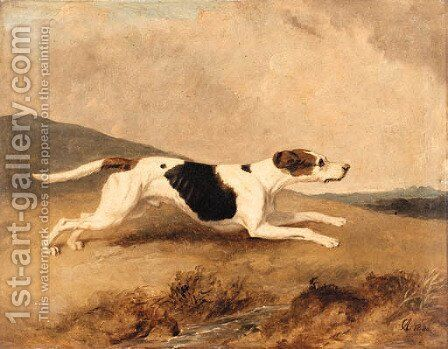 An Old Surrey and Burstow Foxhound by Abraham Cooper - Reproduction Oil Painting