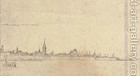 A view of Vlissingen by Abraham de Verwer - Reproduction Oil Painting
