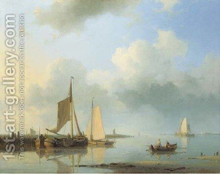 Shipping in a calm 2 by Abraham Hulk Snr - Reproduction Oil Painting