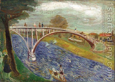 Le pont by Abraham Mintchine - Reproduction Oil Painting