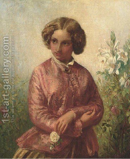 Pensive thoughts by Abraham Solomon - Reproduction Oil Painting