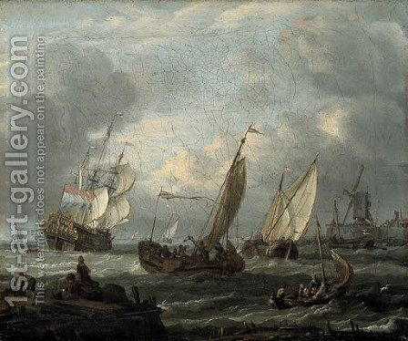 Sailing by Abraham Storck - Reproduction Oil Painting