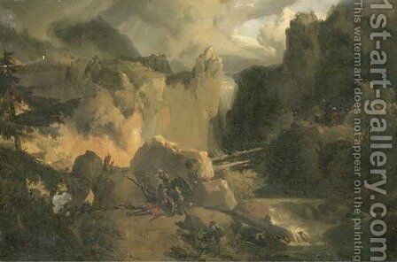 Roland and Oliver at the Battle of Roncesvalles by Achille-Etna Michallon - Reproduction Oil Painting