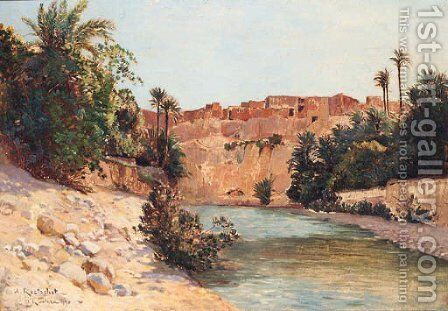 At El Kantara by Achille Koetschet - Reproduction Oil Painting