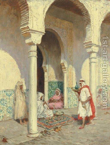 An Arab Cafe by Addison Thomas Millar - Reproduction Oil Painting