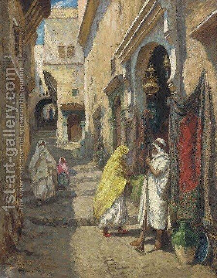 The Rug Merchant 2 by Addison Thomas Millar - Reproduction Oil Painting