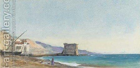 On the coast at Menton, France by Ada Dundas - Reproduction Oil Painting