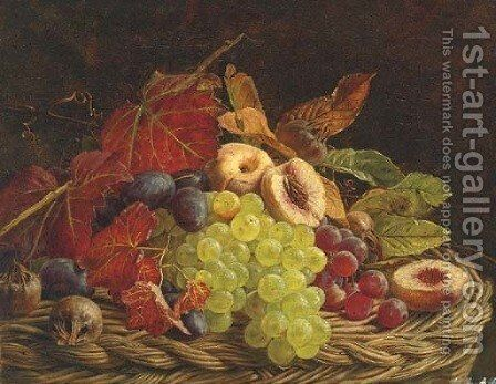 A basket of summer fruits by Adelheid Dietrich - Reproduction Oil Painting