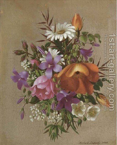 A summer bouquet by Adelheid Dietrich - Reproduction Oil Painting