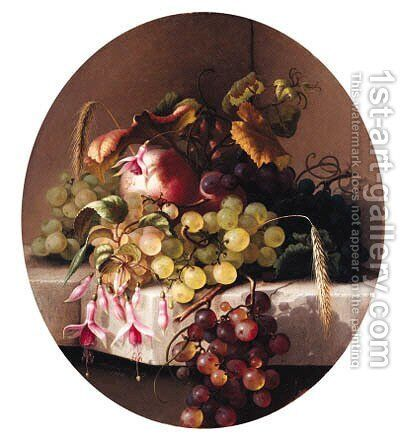 Still Life with Fruit by Adelheid Dietrich - Reproduction Oil Painting