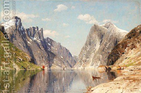 Landscape by Adelsteen Normann - Reproduction Oil Painting