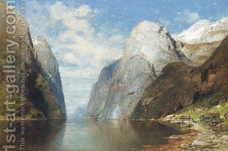 Trollfjorden, Norway by Adelsteen Normann - Reproduction Oil Painting
