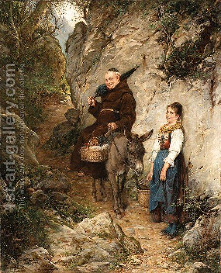 A chance meeting by Adolf Humborg - Reproduction Oil Painting