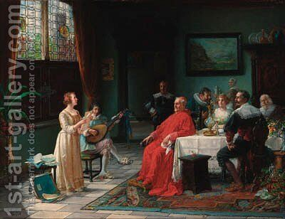 The recital by Adolf Humborg - Reproduction Oil Painting