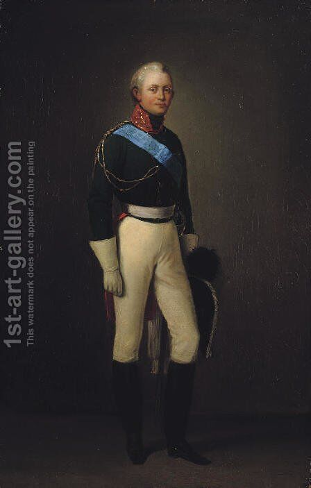 Portrait of Alexander I by Adolphe Ladurner - Reproduction Oil Painting