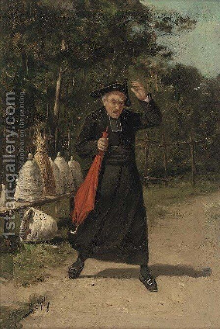 A consequence of curiosity by Adolf Schill - Reproduction Oil Painting