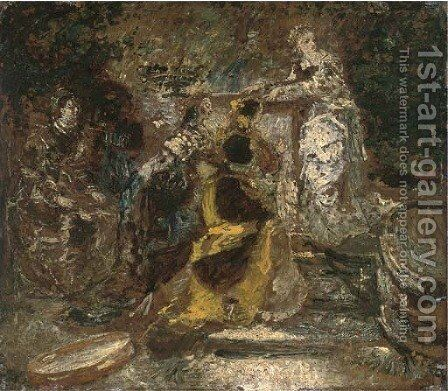 A musical soiree by Adolphe Joseph Thomas Monticelli - Reproduction Oil Painting