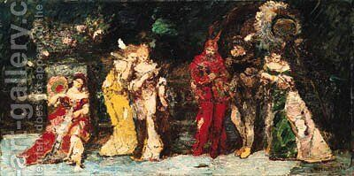Mephisto by Adolphe Monticelli - Reproduction Oil Painting