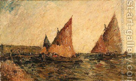 Sailing by Adolphe Joseph Thomas Monticelli - Reproduction Oil Painting