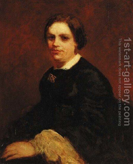 Portrait of Mademoiselle Millau by Adolphe Joseph Thomas Monticelli - Reproduction Oil Painting