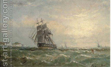 Running down the Channel by Adolphus Knell - Reproduction Oil Painting