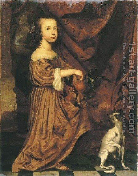 Portrait of a young lady by Adriaen Cornelisz. Beeldemaker - Reproduction Oil Painting