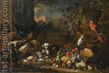 A hound by Adriaen De Gryeff - Reproduction Oil Painting