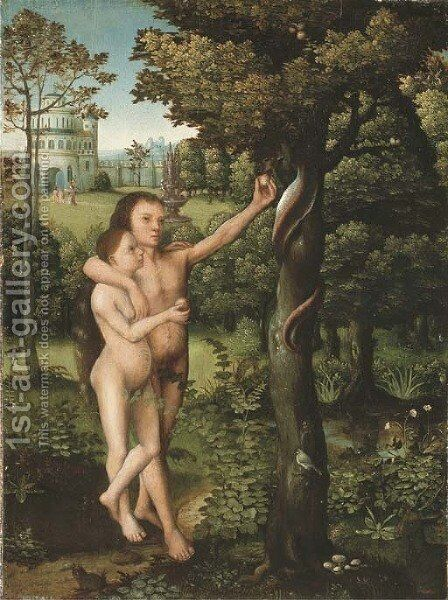 The Temptation by Adriaen Isenbrandt (Ysenbrandt) - Reproduction Oil Painting