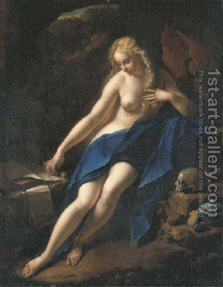 The Penitent Magdalene by Adriaen Van Der Werff - Reproduction Oil Painting