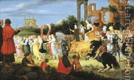 An allegory of the passage of Time by Adriaan van Stalbemt - Reproduction Oil Painting