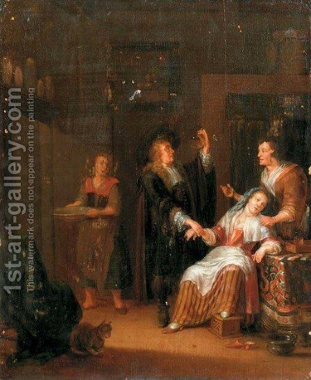 The doctor's visit by Adriaen The Elder Verdoel - Reproduction Oil Painting