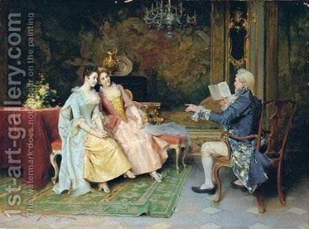 An amusing story by Adriano Cecchi - Reproduction Oil Painting