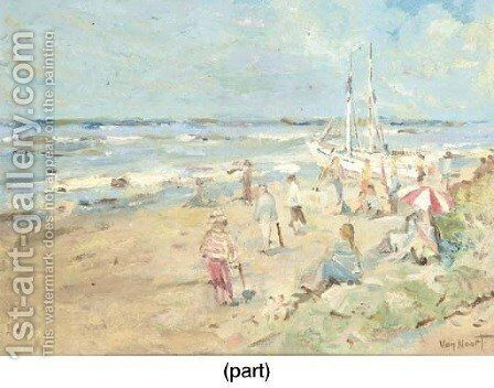 A sunny day at the beach by Adam van Noort - Reproduction Oil Painting