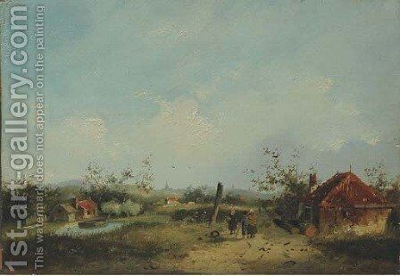 A hamlet in the dunes by Adrianus David Hilleveld - Reproduction Oil Painting