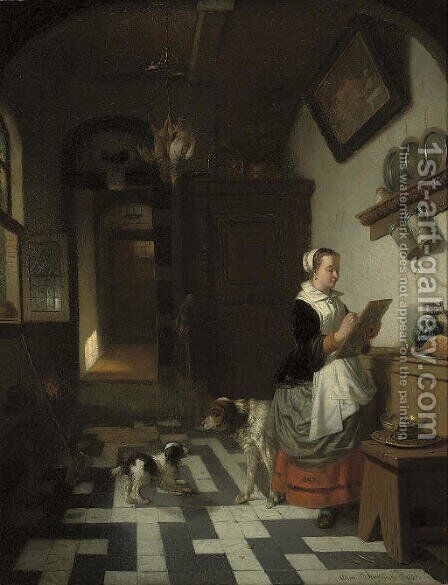 Morning chores by Adrien Ferdinand de Braekeleer - Reproduction Oil Painting