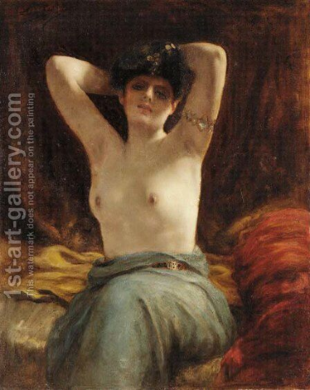 Harem beauty by Henri Adriene Tanoux - Reproduction Oil Painting