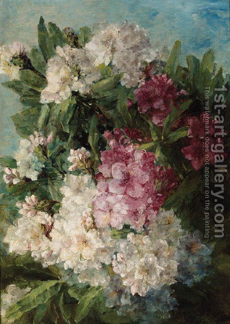 Rhodondendrons by Adrienne Jacqueline 's Jacob - Reproduction Oil Painting