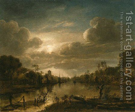 Landscape 2 by Aert van der Neer - Reproduction Oil Painting