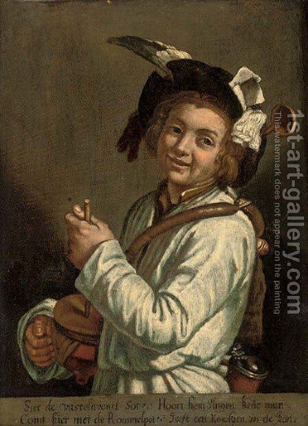 Portrait of a boy by (after) Abraham Bloemaert - Reproduction Oil Painting