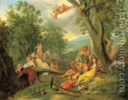 The Golden Age by (after) Abraham Bloemaert - Reproduction Oil Painting